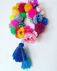 I need this pom pom colour explosion in my house!