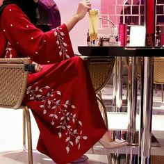 LoveliesWhich style do you prefer ? Islamic Fashion, Muslim Fashion, Modest Fashion, Fashion Dresses, Abaya Designs Latest, Modern Abaya, Arab Girls Hijab, Arabic Dress, Embroidery Fashion