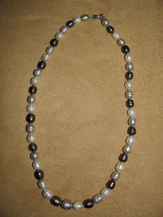 """Honora QVC Cultured Freshwater Pearl Sterling 16"""" Tuxedo Strand Necklace #Honora #StrandString"""