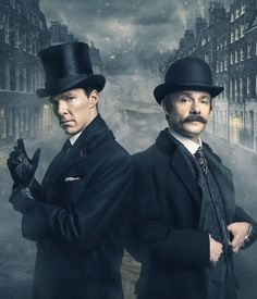 SHERLOCK (BBC) ~ Sherlock Holmes (Benedict Cumberbatch) and John Watson (Martin Freeman) in the pre-Season 4 special SHERLOCK: THE ABOMINABLE BRIDE, which airs in the UK (BBC) and the US (PBS) on January 1, 2016.