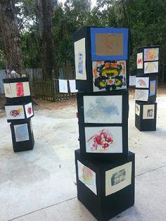 Preschool art show display ideas Creation Art, Reggio Emilia, Art Classroom, Art Festival, Summer Art, Art Plastique, Art Activities, Elementary Art, Teaching Art