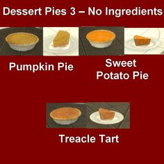 The Sims Resource: Custom Food Dessert Pies 3 by Leniad • Sims 4 Downloads