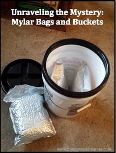 Using Mylar bags and food safe buckets, you can buy in bulk and store smaller packages of basic staples and create your own long term food storage.