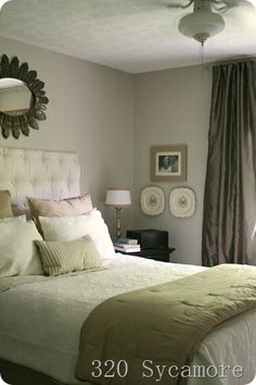 Simple neutral bedroom.