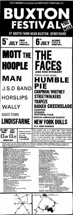 The Buxton Rock festival 1974