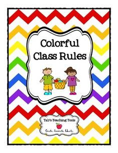 Colorful Class Rules is a collection of simple and meaningful rules for the elementary classroom. Download and display as many as you would like to!