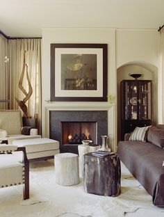 McAlpine Booth & Ferrier Interiors Small & Tranquil » McAlpine Booth & Ferrier Interiors--more asymmetry at fireplace