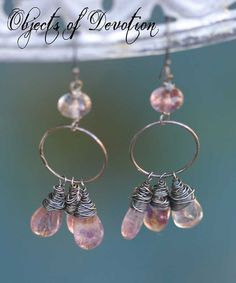 Gypsy  Boho Chic  Moss Amethyst and Sterling by ObjectsOfDevotion, $77.00