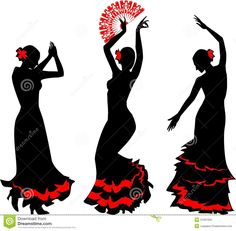Three Silhouettes Of Flamenco Dancer With Fan - Download From Over 58 Million High Quality Stock Photos, Images, Vectors. Sign up for FREE today. Image: 31591260