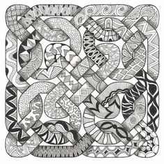 Celtic Challenge 31 zentangle by cathleen
