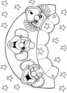 Clown Crafts, Carnival Crafts, Paper Crafts For Kids, Diy For Kids, Arts And Crafts, Circus Theme, Circus Party, Coloring Pages For Kids, Adult Coloring