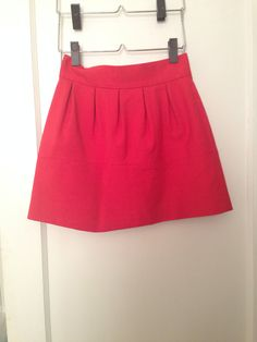 Zara high-waisted cotton mini skirt in tomato red, size small