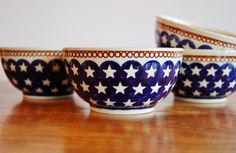 Hey, I found this really awesome Etsy listing at https://www.etsy.com/listing/217980620/red-white-blue-bowls-set-of-4