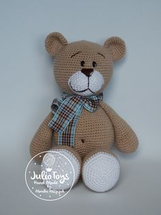 crochet teddy bear pattern https://www.etsy.com/listing/228078727/el-clasico-teddy-bear-crochet-pdf?ref=shop_home_active_7