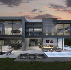 Belle homes & Estates Inserzioni - case di lusso Modern Architecture House, Architecture Design, Modern Villa Design, Luxury Homes Dream Houses, Dream Homes, Modern Mansion, Dream House Exterior, Dream Home Design, Modern House Plans