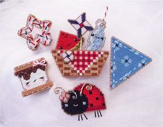 PDF All 3 sets of Patriotic Picnic Yummy Stitches 1 2 & 3 : Brooke's Books cross stitch patterns 4th of July Summer embroidery by thecottageneedle