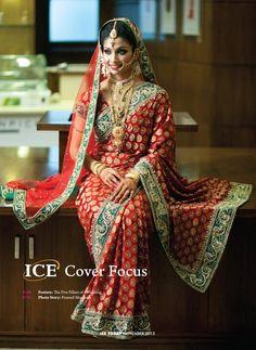 ICE Today: A Bangladeshi Fashion, Entertainment & Lifestyle Magazine Indian Wedding Sari, Asian Wedding Dress, Bengali Wedding, Indian Bridal Fashion, Asian Bridal, Desi Wedding, Bengali Bride, Bengali Saree, Indian Attire