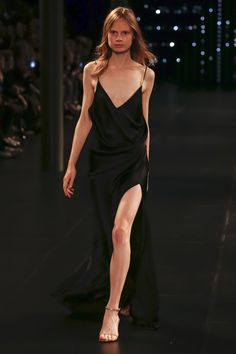 Slip Dress from Saint Laurent Spring/Summer 2016 Fashion Show