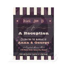 Glitter Look Wedding Reception Only Invitation Something new