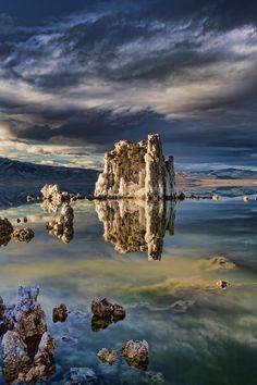 Reflection of Tufas - Mono Lake, Eastern Sierras, USA (by Mark Lissick on 500px)