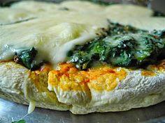 Universo de Luz y Amor: Pizza de espinacas y queso mozzarella vegan