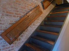 STAIRWAY RAILINGS FROM RECLAIMED WINDOW SHUTTERS