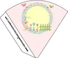 Dicas pra Mamãe: Kit de festa Personalizado com tema Jardim Encantado Minecraft Crafts, Minnie, Playing Cards, Butterfly, Bird, Julia, Silhouette, Bird Party, Parties Kids