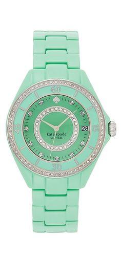 Minty bracelet watch by kate spade