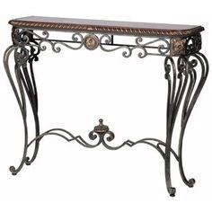 Ambella Home Hanover Console Table Iron Console Table, Iron Table, Iron Furniture, Home Furniture, Old World Decorating, Traditional Console Tables, Entry Tables, Accent Tables, Side Tables