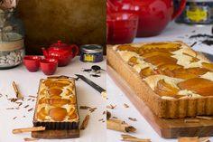 receta de tarta de melocotón con crema de almendras