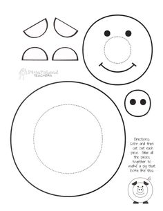 paint a pig printable cute craft for kids turns out way cute and - Kids Craft Templates