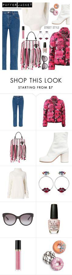 """Puffer Jacket"" by dressedbyrose on Polyvore featuring Balenciaga, Etro, Emilio Pucci, Maison Margiela, Diane Von Furstenberg, Anton Heunis, Gucci, OPI, Revlon and Celebrate Shop"