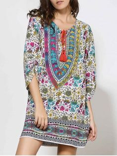 GET $50 NOW | Join RoseGal: Get YOUR $50 NOW!http://www.rosegal.com/print-dresses/vintage-style-v-neck-full-172856.html?seid=5904674rg172856