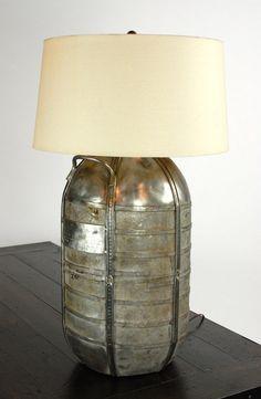 Vintage Propane Tank Lamp