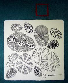Zentangle eggs...On stART by Christina Vandervlist