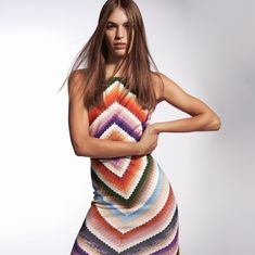 """Missoni on Instagram: """"Get hypnotized by this kaleidoscopic optical #Missoni dress. #MissoniGroove⠀ ⠀ Discover more on missoni.com #MissoniFall⠀ Photographer:…"""""""