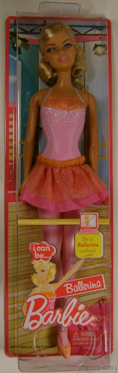 Barbie Doll I Can Be Ballerina Blonde Ankles Move Cloth Skirt Online Code Shoes #Barbie