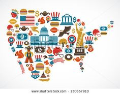 America map with many vector icons by Marish, via Shutterstock