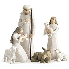 online shopping for Willow Tree Nativity, Sculpted Hand-Painted Nativity Figures, Set from top store. See new offer for Willow Tree Nativity, Sculpted Hand-Painted Nativity Figures, Set Christmas Nativity, Christmas Countdown, A Christmas Story, Christmas Decor, Christmas Trees, Christmas Gifts, Christmas Clay, Christmas Mood, Xmas
