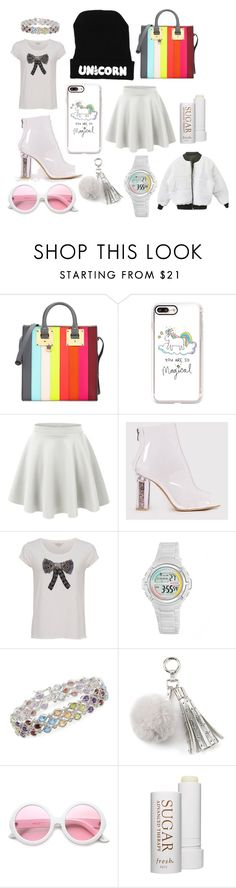 """Uni Chic"" by discobubbles on Polyvore featuring Sophie Hulme, Casetify, LE3NO, French Connection, Armitron, Ross-Simons, Juicy Couture, ZeroUV and Fresh"