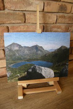 Obraz decoupage jak malowany - górskie jezioro