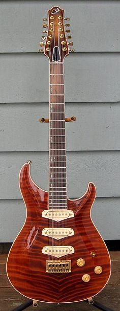 Giffin Guitars HB 12-string with a Curly Redwod top