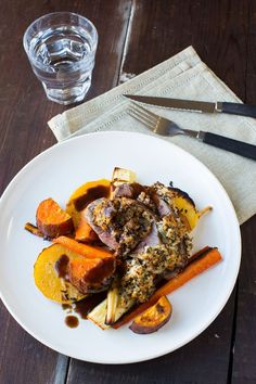 This juicy and tender roast lamb is accompanied by thyme and honey roasted vegetables, rosemary and sage stuffing balls, and a tasty self-made jus. The wonderful aromas of thyme, rosemary, and sage are bound tofill the room, leaving everyones mouth … Continued