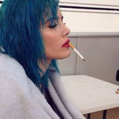 HALSEY today at a PHOTOSHOOT