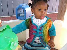 Ravelry: Sideways Rainbow Cardigan (Design pattern by Leslie McDermott Rainbow Cardigan, Cardigan Design, Ravelry, Knit Crochet, Knitting, Pattern, Sweaters, Fashion, Moda