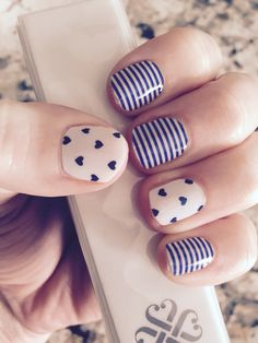 Cute Jamberry nails #Puppy Love and #Navy Skinny Order online at: www.AccessorizedMom.com