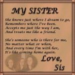 Sister Love Poems | Images For Sister Love Poem