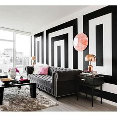 We're getting MAJOR #EasyStripe inspiration right here thanks to @homepolish! How amazing is this statement wall designed by @mhilal?? We're thinking our Easy Stripe vinyl wall decals are up for the challenge.