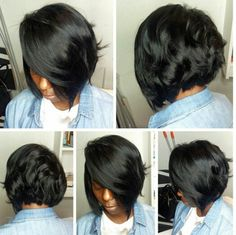 Hair Weave Bob Hairstyles - In the event you wish to provide a distinct and unique look for an event to yourself, you need Weave Bob Hairstyles, 2015 Hairstyles, Cool Hairstyles, Short Hair Cuts, Short Hair Styles, Bob Styles, Relaxed Hair, Love Hair, Hair Dos