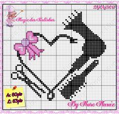 Cross Stitch Needles, Cross Stitch Heart, Cross Stitch Cards, Cross Stitching, Cross Stitch Embroidery, Hand Embroidery, Modern Cross Stitch Patterns, Cross Stitch Designs, Cross Stitch Silhouette
